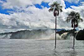 Waterfalls in the Canaima Lagoon
