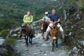 Horse-riding in the Andes