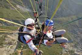 Paragliding in the Andes