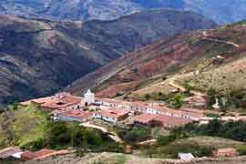 Village in the Andes