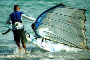 Windsurfer at Playa el Yaque